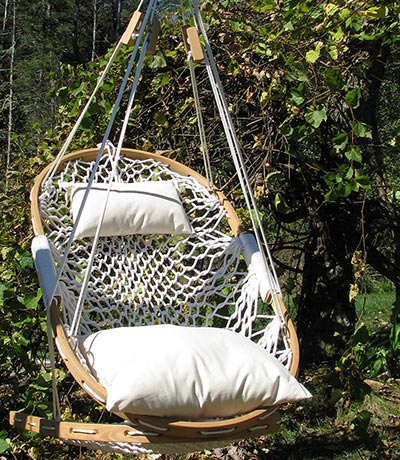 Hanging Hammock Chair By Cobble Mountain Co