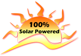 Our shop is 100% solar powered!
